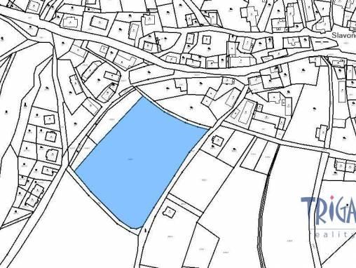 Slavoňov - pozemek 12406 m² s územní studií pro stavbu 10 domů foto 1