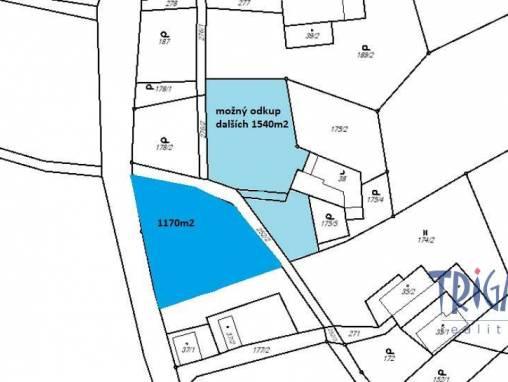 Brzice - Proruby - stavební pozemek 1170 m² foto 1