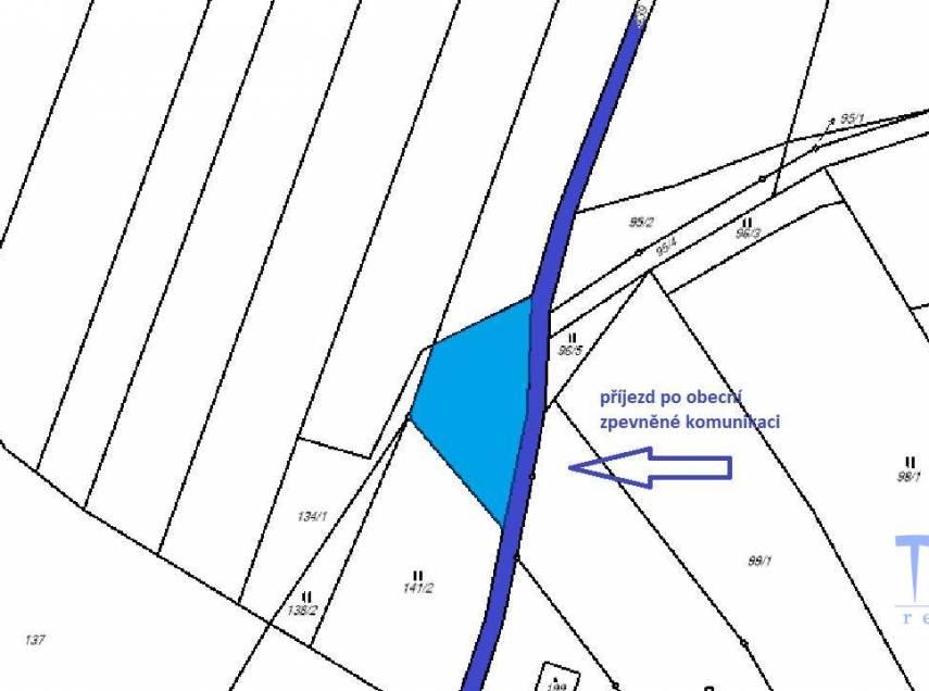 Hořičky -  prodej stavebního pozemku 601 m²