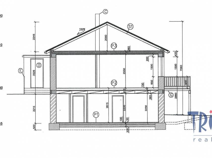 Velký Třebešov - stavební pozemek 1082 m² s projektem na stavbu rodinného domu